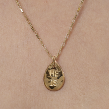 I AM, HE IS - 18ct Gold Plated Seed Necklace