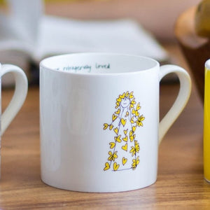 Yellow & Outrageously Loved Mug Set