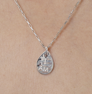 I AM, HE IS - 925 Sterling Silver Seed Necklace
