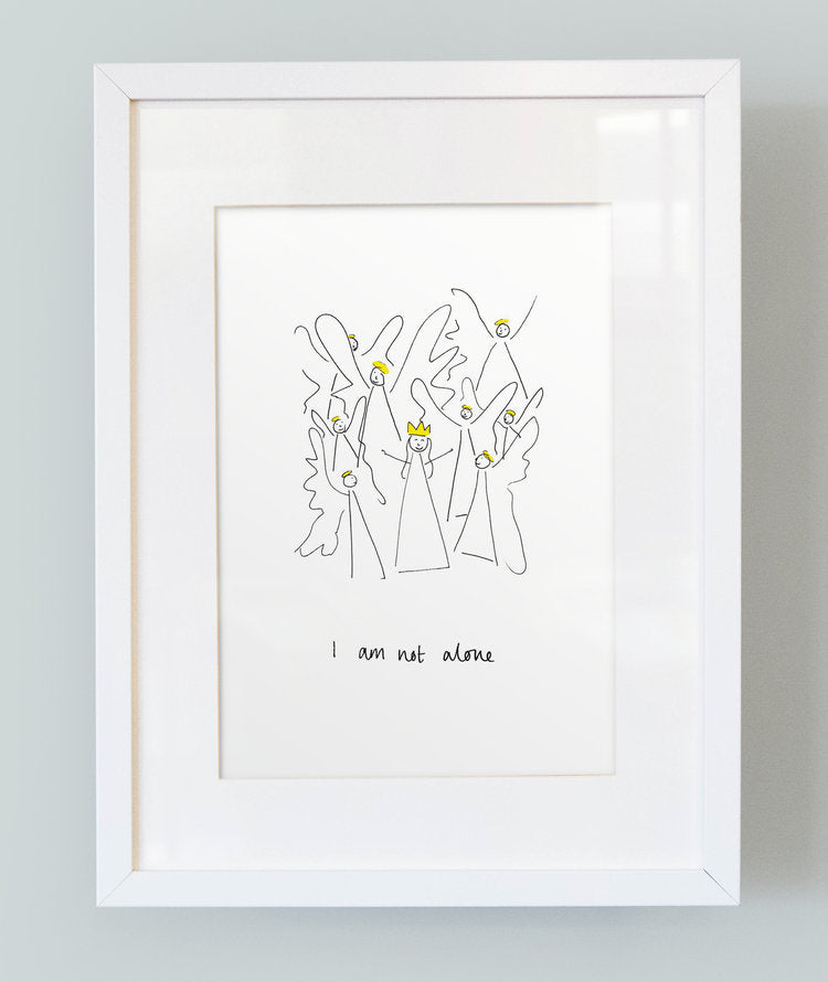 'I am not alone' Unframed Girl's Print