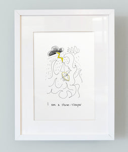 'I am a storm sleeper' Unframed Boy's Print