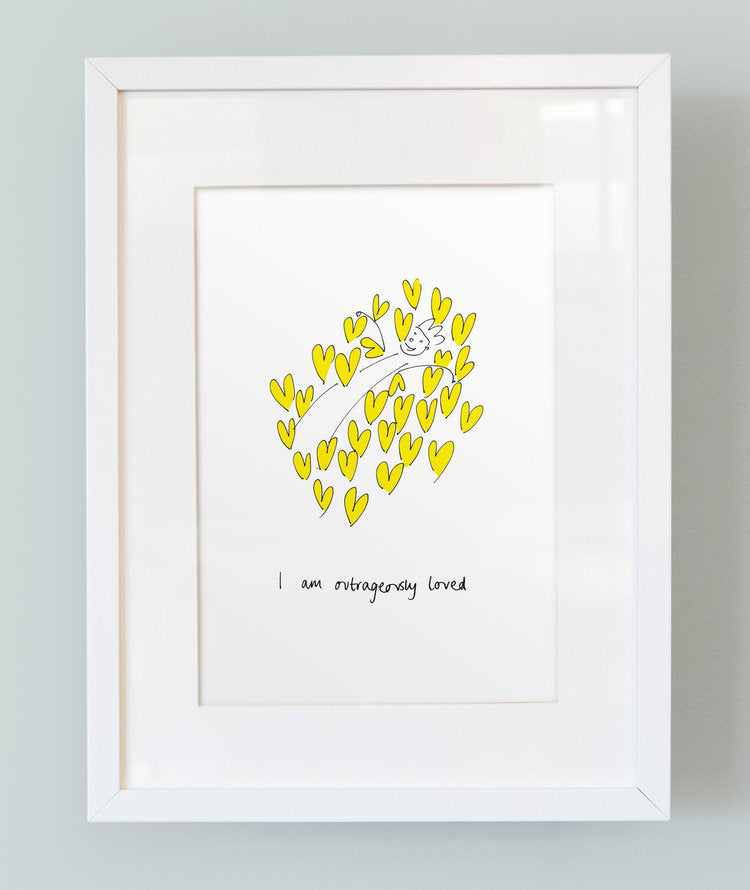 'I am outrageously loved' Unframed Boy's Print