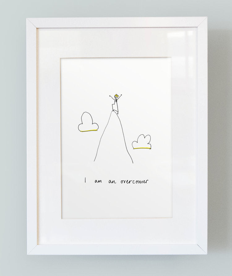 'I am an overcomer' Unframed Boy's Print