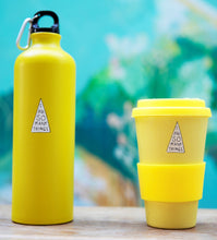 Reusable Water Bottle & Bamboo Cup