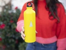 Girl's Book & Yellow Water Bottle