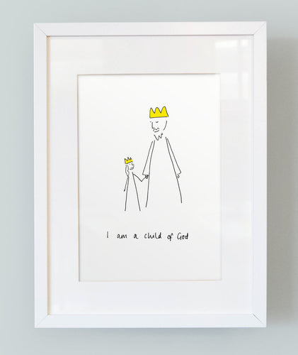'I am a child of God' Unframed Girl's Print