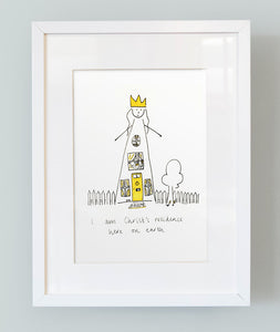 'I am Christ's residence here on earth' Unframed Girl's Print