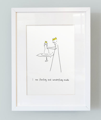 'I am fearfully and wonderfully made' Unframed Girl's Print