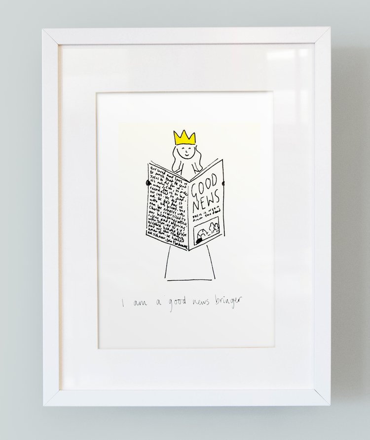'I am a good news bringer' Unframed Girl's Print