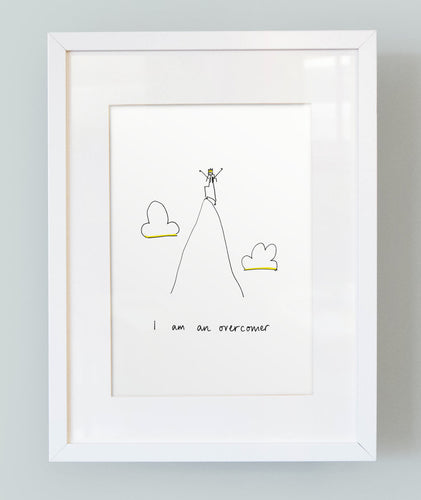 'I am an overcomer' Unframed Girl's Print