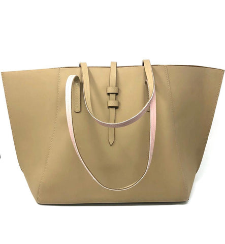 Carlota leather tote bag