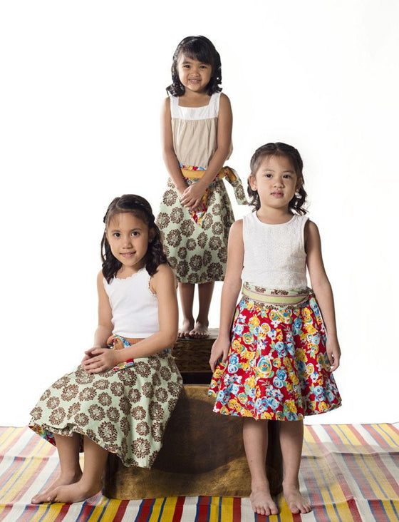Tablas Sampaguita Wrap Skirt - Skirts - Mothering Earthlings - Mothering Earthlings - 1