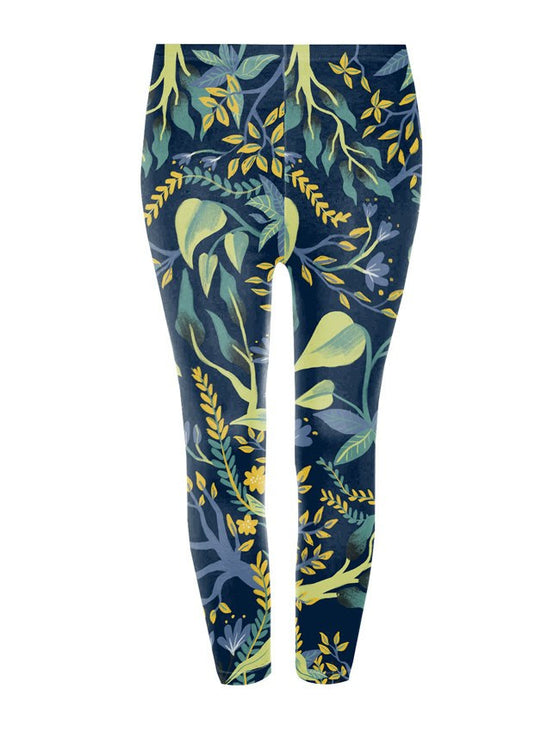 Smart Fox Leggings - Pants - Mothering Earthlings - Googoo & Gaga - 1