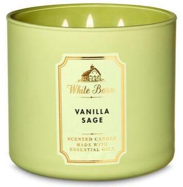 Bath & Body Works 3-Wick Candle - Vanilla Sage - UNIT