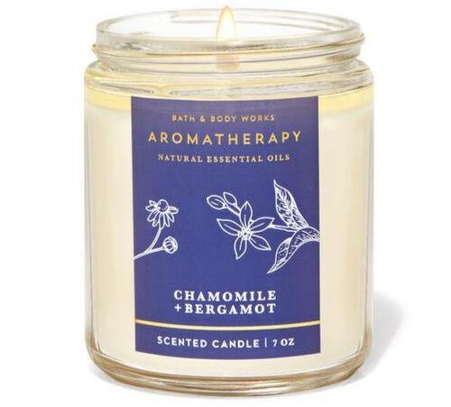 Bath & Body Works Single Wick Candle - Bergamot Chamomile - UNIT