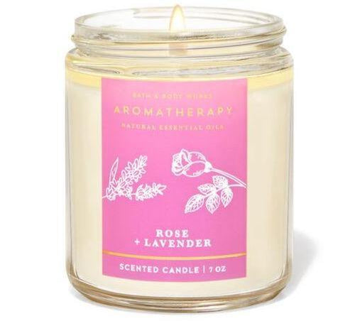 Bath & Body Works Single Wick Candle - Rose Lavender - UNIT