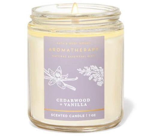 Bath & Body Works Single Wick Candle - Cedarwood Vanilla - UNIT