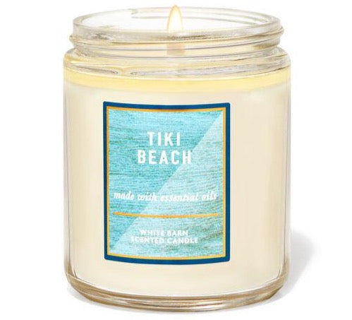 Single Wick Candle - Tiki Beach