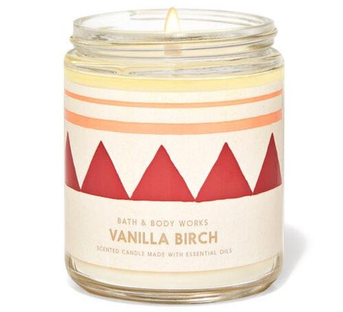 Single Wick Candle - Vanilla Birch
