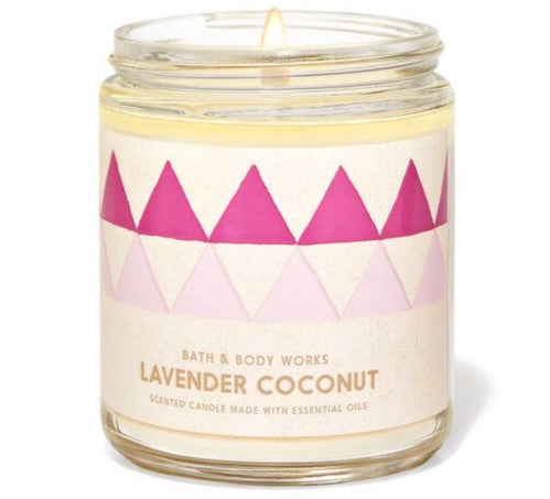 Bath & Body Works Single Wick Candle - Lavender Coconut