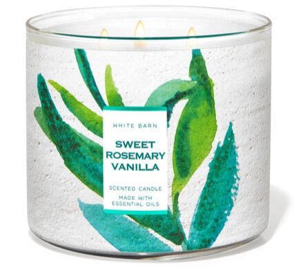 Bath & Body Works 3-Wick Candle - Sweet Rosemary Vanilla