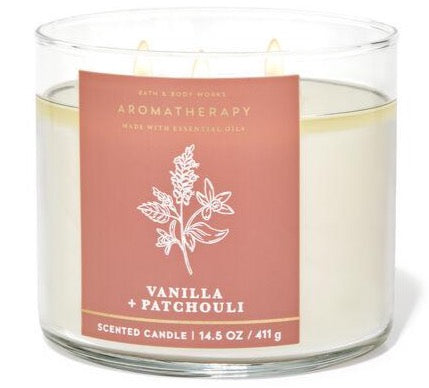 Bath & Body Works 3-Wick Candle - Vanilla Patchouli