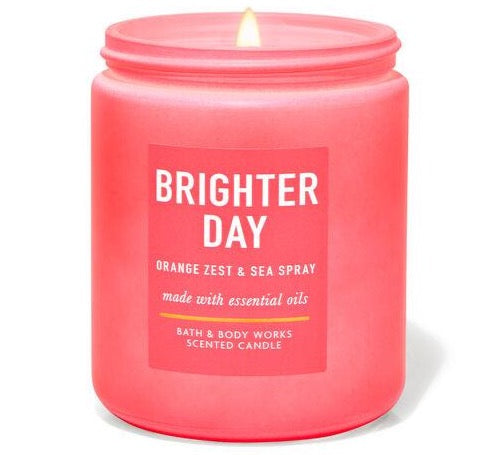 Bath & Body Works Single Wick Candle - Orange Zest & Sea Spray
