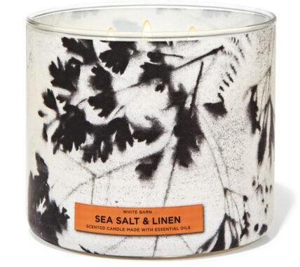 3-Wick Candle - Sea Salt & Linen
