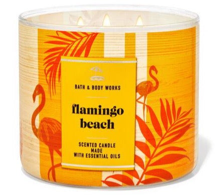 3-Wick Candle - Flamingo Beach