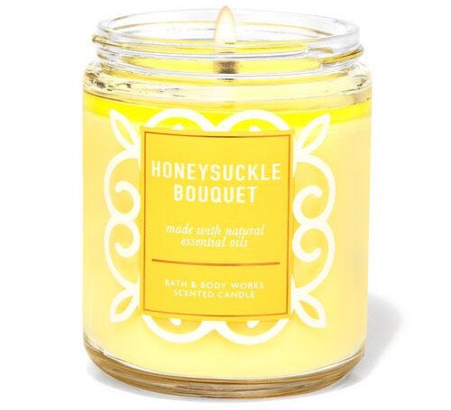 Single Wick Candle - Honeysuckle Bouquet