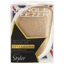 Load image into Gallery viewer, Compact Styler Hairbrush - Gold Starlight