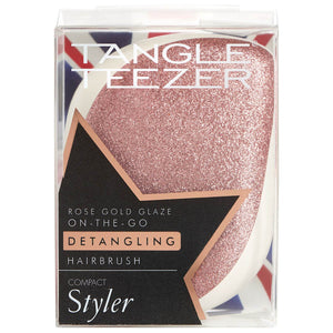 Tangle Teezer Compact Styler Hairbrush - Rose Gold Glaze
