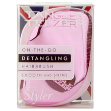 將圖像加載到圖庫查看器中,Compact Styler Hairbrush - Baby Doll Pink Chrome