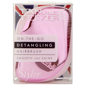 Compact Styler Hairbrush - Baby Doll Pink Chrome