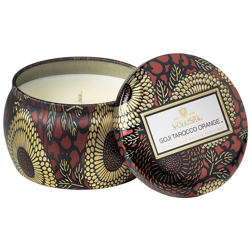 Voluspa Petite Tin Candle -Goji Tarocco Orange