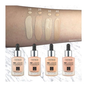 Catrice HD Liquid Coverage Foundation - Light Beige 010