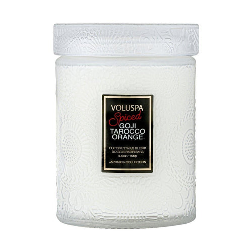 Voluspa Small Jar Candle - Spiced Goji Tarocco Orange - UNIT
