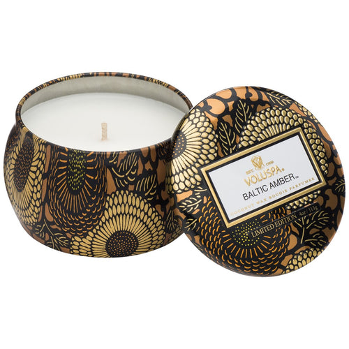 Voluspa Petite Tin Candle - Baltic Amber