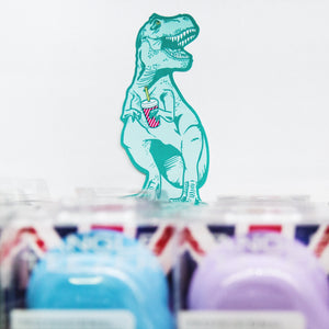 Mustard T-Rex Sticky Notes
