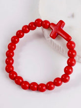 Load image into Gallery viewer, Beaded Cross Bracelet