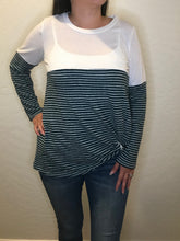 Load image into Gallery viewer, Hunter Striped Color Block Long Sleeve Top