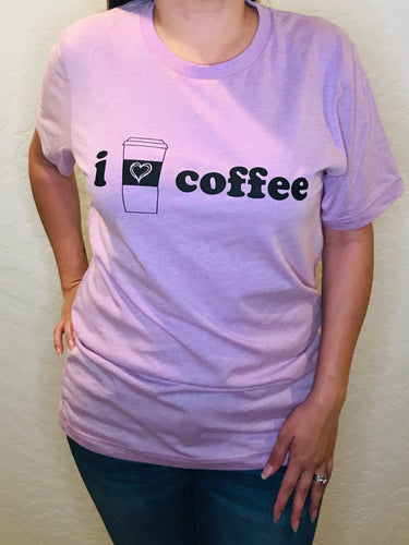 I Love Coffee Graphic Tee