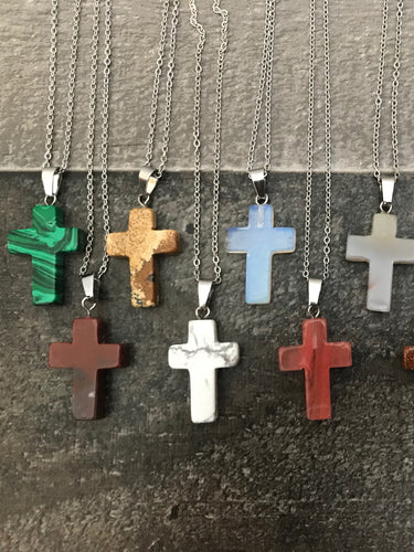 Cross Stone Necklace