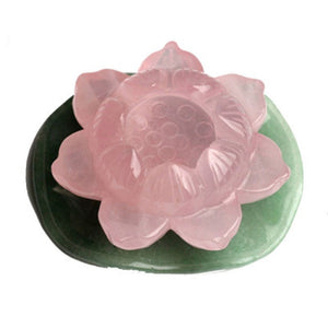 Hand Carved Crystal Lotus Flower