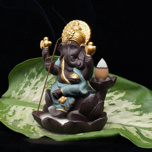 Ganesha Elephant God Backflow Incense Burner