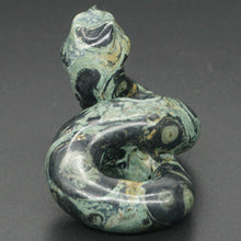 Load image into Gallery viewer, Carved Snake Figurine Natural Kambaba Jasper Jade for Feng Shui and Reiki Healing Energy