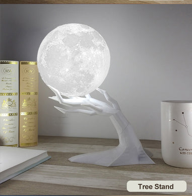 880ML Ultrasonic Moon Air Humidifier and Essential Oil Diffuser USB and Lamp