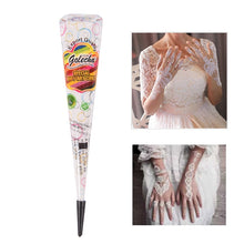 Load image into Gallery viewer, Indian Tattoo Henna Paste Cone For Body Art Drawing Temporary Hand Arm Paint Henna Cream White Color