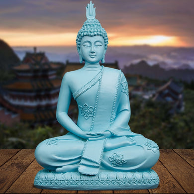 Tranquil Turquoise Blue Thai Buddha Statue