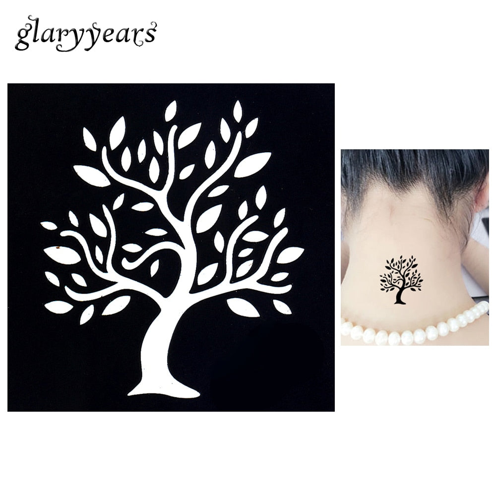 One Piece Henna Stencil Tree of Life Pattern